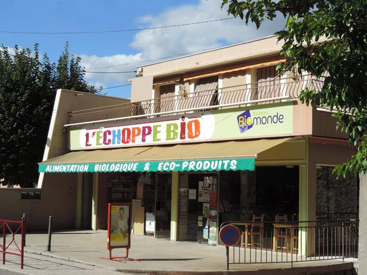 Facade magasin Echoppe Bio
